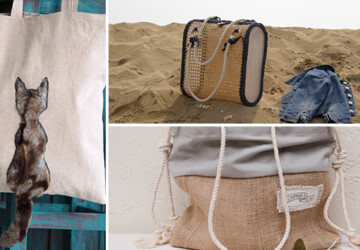 18 Must Have Handmade Beach Bag Designs To Take Your Stuff To The Beach - vacation, tote, summer, straw, sea, sand, ocean, khaki, jute, holiday, handmade, fashion, etsy, drawstring, crochet, craft, chic, canvas, burlap, beach, bag, Accessories