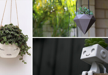 20 Cool Handmade Planter Designs For Indoor And Outdoor Use - wood, wine bottle, wall, vertical, Succulent, pot, Plants, Planter, plant, Natural, log, hanging, handmade, flowers, flowerpot, Flower, felt, diy, craft, concrete, ceramic, cactus, box