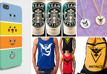 24 Ways To Get Ready For A Pokemon Go Hunt - team Valor, team Mystic, team Instinct, team, t-shirt, smartphone, Pokemon Go, Pokemon, pokeball, Pikachu, phone case, phone, patch, necklace, iPhone, hunt, game, cover, case, bracelet, bag, badge, Android