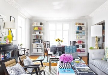 19 Bright, Cheerful Living Room Design and Decorating Ideas - living room design ideas, living room decor, colorful interior design, bright living room