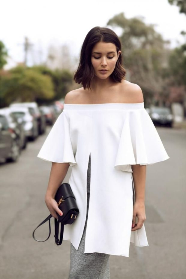 The Hottest Summer Fashion Trend: 20 Stylish Off the Shoulder Top Outfit Ideas