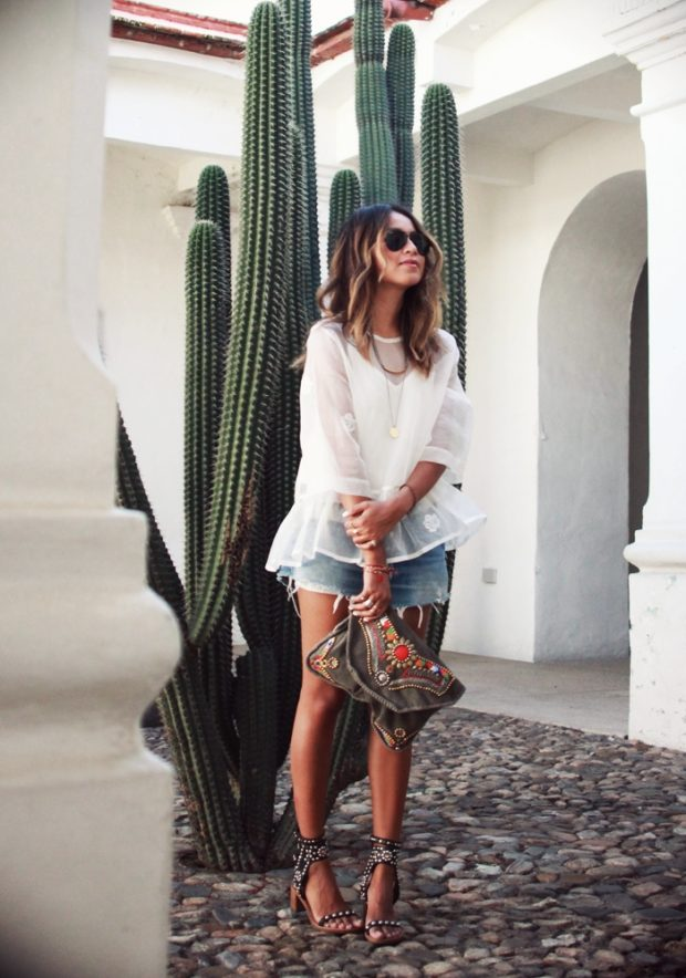 17 Cool and Casual Denim Shorts Outfit Ideas for Hot Summer Days (Part 1)