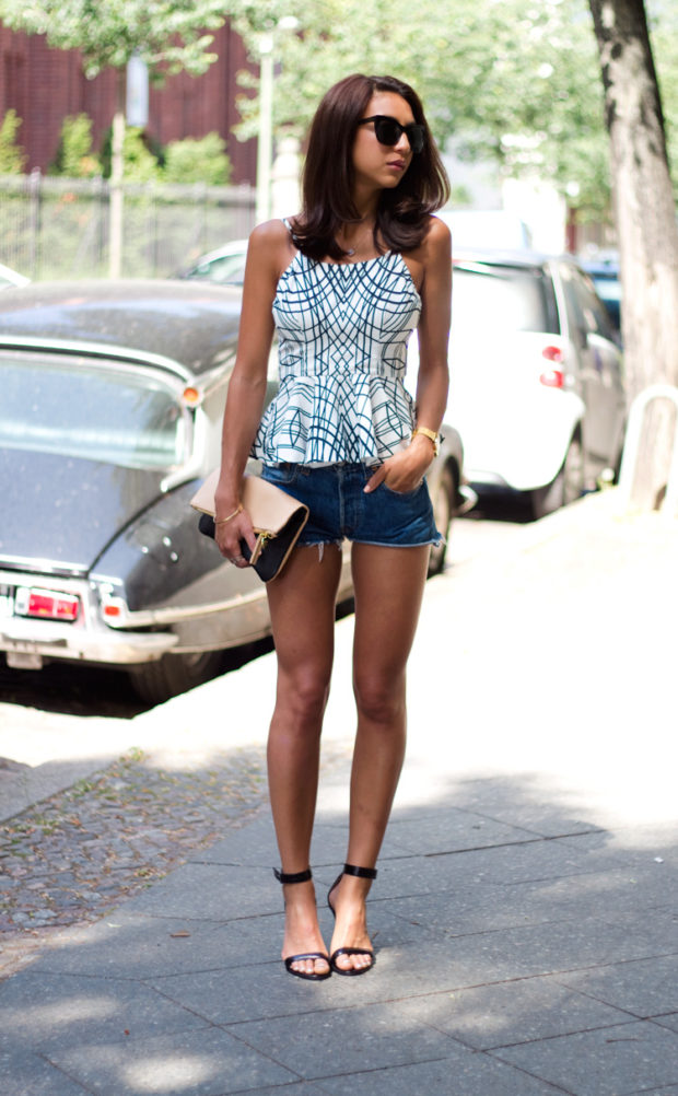 17 Cool and Casual Denim Shorts Outfit Ideas for Hot Summer Days (Part 2)