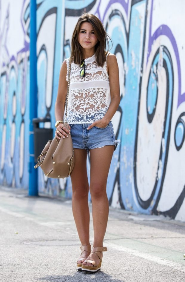 17 Cool and Casual Denim Shorts Outfit Ideas for Hot Summer Days (Part 2) - Style Motivation