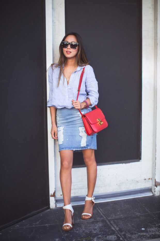 16 lovely denim skirt ideas for summer style
