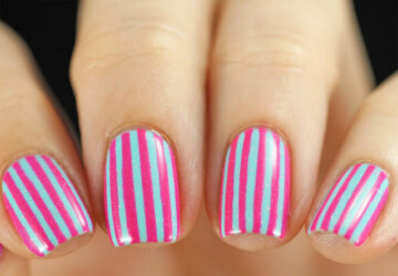 Mix of Pink and Aqua Nail Polish Colors for Cute Summer Nail Art - summer nail art, pink nail art, Pink and Aqua Nail Polish Colors, Pink and Aqua, Aqua Nail Art