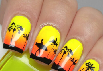 Summer, Beach, Sea: 15 Cute Nail Art Inspirations - summer nail art, sea nail art, nail art ideas, beach nail art