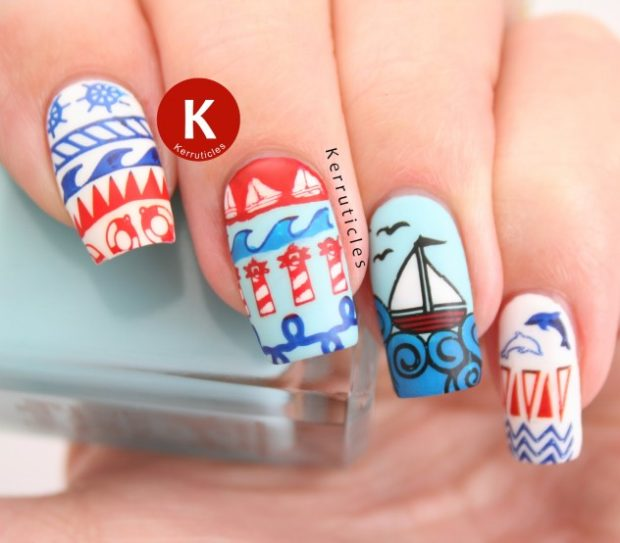 Summer, Beach, Sea: 15 Cute Nail Art Inspirations