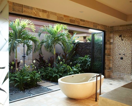 15 Zen Bathroom Design Ideas in Tropical Style Style Motivation