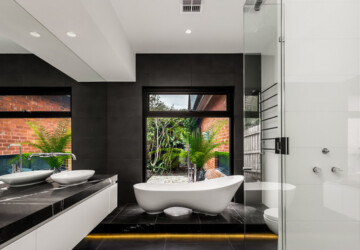 18 Black and White Bathroom Decor and Design Ideas - Black and White Bathroom Decor and Design Ideas, Black and White Bathroom Decor, Black and White Bathroom, black and white, Bathroom Design Ideas