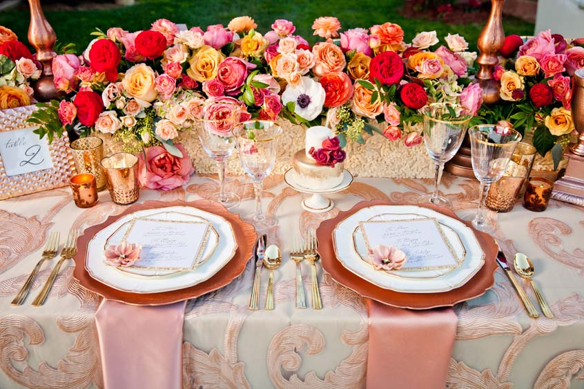 15 amazing fall wedding decor ideas to inspire your big for Decoration rose gold