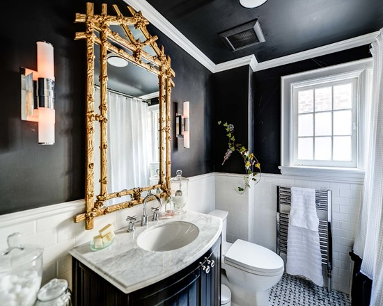 18 black and white bathroom decor and design ideas style for Black white bathroom ideas