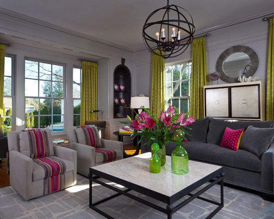 Mix Of Grey And Pink For Chic Living Room Decor Part 2