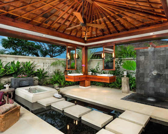 15 Zen Bathroom Design Ideas in Tropical Style - Style Motivation