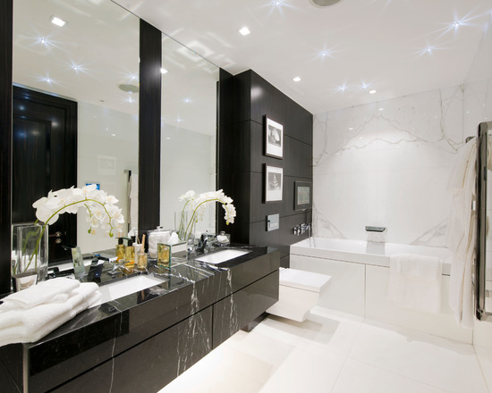 18 Black and White Bathroom Decor and Design Ideas