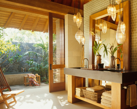 15 Zen Bathroom Design Ideas in Tropical Style
