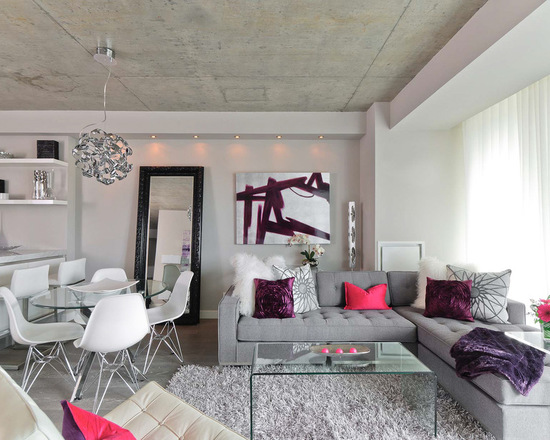 Mix of Grey and Pink for Chic Living Room Decor (Part 1)