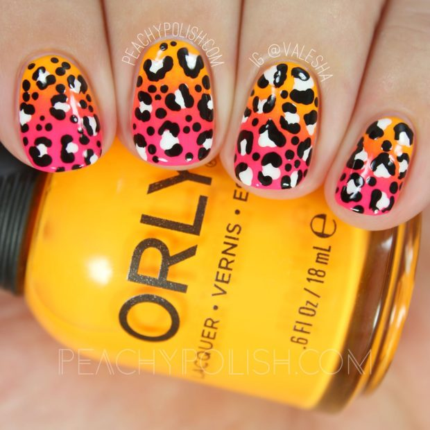 Cute Animal Print Nail Designs in Bright Summer Colors