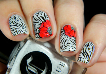 Cute Animal Print Nail Designs in Bright Summer Colors - summer nail art, bright colors, animal print nail art