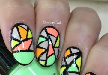 Crazy Neon Nail Art Ideas for The Last Days of Summer - summer nail design, summer nail art, neon summer nail art, neon nail art