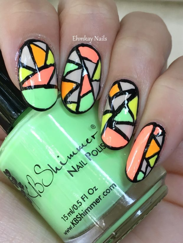 Crazy Neon Nail Art Ideas for The Last Days of Summer