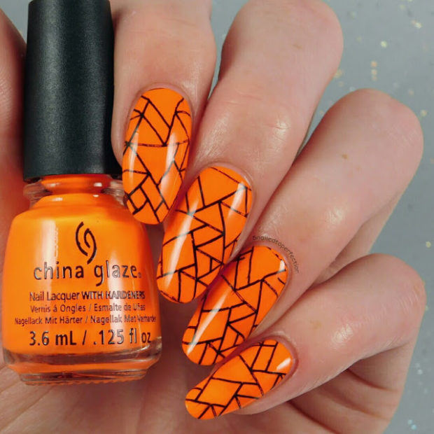 15 Cute Orange Nail Art Ideas to Try for the Last Days of Summer