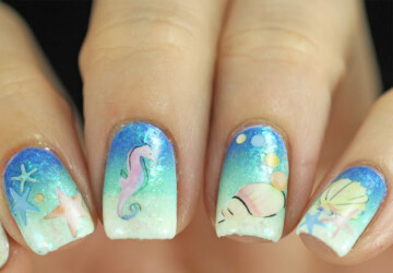 15 Beautiful Under The Sea Inspired Nail Art Ideas - under the sea, summer nail art, sea nail art, nail art ideas, beach nail art