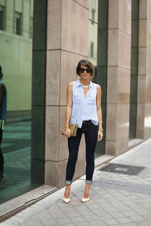 How To Wear Denim To The Office: 17 Great Outfit Ideas