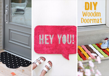 14 Inviting DIY Welcome Mat Ideas You Could Easily Craft - welcoming, welcome mat, mat, inviting, ideas, house, home decor, hello, handmade, goodbye, Front door, diy, craft
