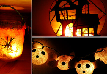 15 Frightening Halloween Lights Designs That Will Create An Eerie Ambiance - witch, spider, skeleton, scary, Pumpkin, mummy, lights, lighting, light, holiday, handmade, halloween, ghost, freaky, eerie, craft, candle holder, candle, ambient, ambiance