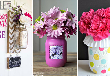 15 Impressive DIY Mason Jar Vase Ideas You're Going To Fall In Love With - vase, table decor, mason jar vase, mason jar, handmade, flowers, Easy, diy mason jar vase, diy, decoration, decor, crafts, crafting
