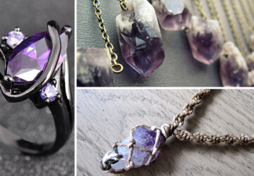 15 Irresistible Handmade Amethyst Jewelry Designs You'll Fall In Love With - stone, rock, ring, necklace, jewelry, ideas, healing stones, handmade, fashion, Earrings, diy, designs, bracelet, amethyst, Accessories