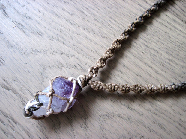 15 irresistible handmade amethyst jewelry designs youll fall in raw amethyst necklace aloadofball Choice Image