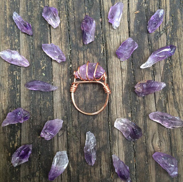 15 Irresistible Handmade Amethyst Jewelry Designs You'll Fall In Love With (7)