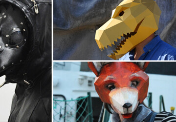 17 Super Scary Halloween Mask Ideas You're Going To Love - witch, steampunk, skull, scary, mask, leather, horror, hate, halloween, fox, costume, cosplay, cat