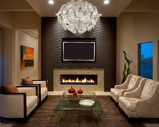 Modern Fireplace Tile Tiled Wall Ideas Surround Wallpaper ...