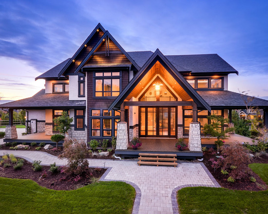 Home Design Ideas Pictures: 18 Warm And Cozy Chalet Style Exterior Design Ideas