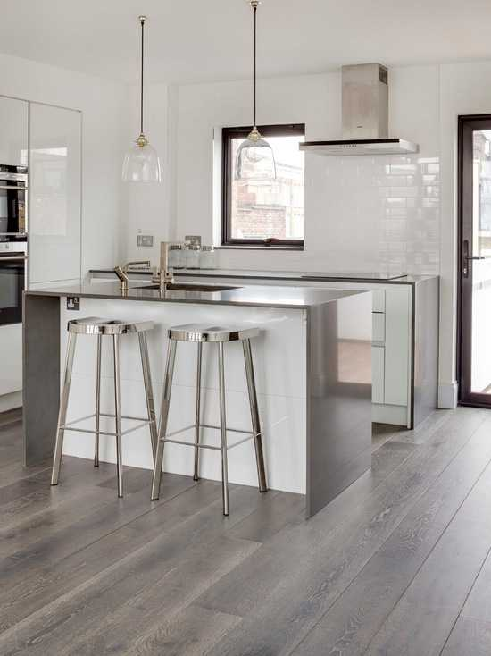 15 stunning grey kitchen floor design ideas style motivation for Kitchen floor remodel ideas