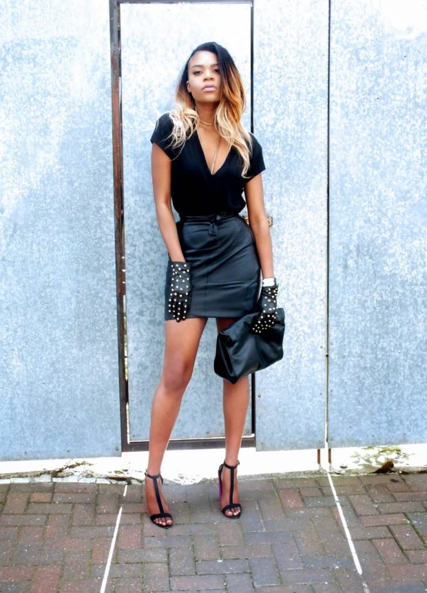 Fashion Must Have 20 Leather Mini Skirt Outfits For Every
