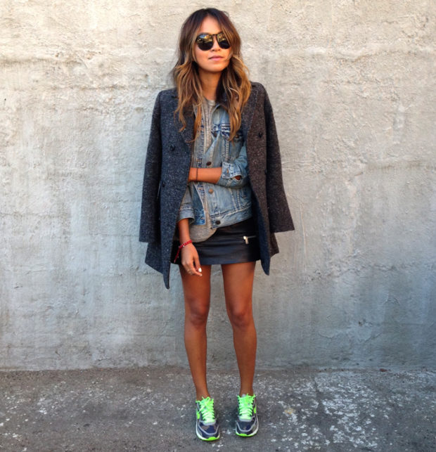 Fashion Must Have  20 Leather Mini Skirt Outfits for Every Style Type