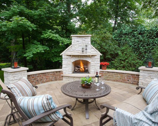 18 Patio Fireplace Design Ideas for Your Outdoor Space - Style ...