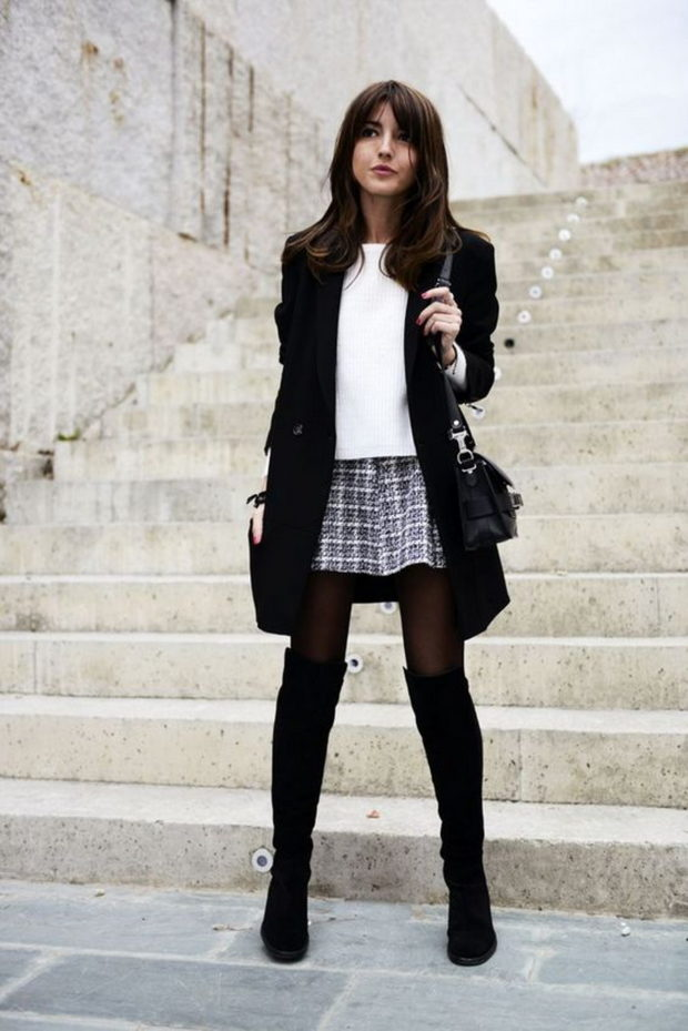 20 Chic Ideas How to Style Black Tights This Season