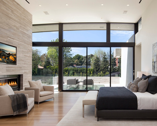 21 Impressive Master Bedroom Design Ideas with Fireplaces