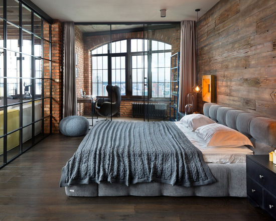 18 Urban Loft Style Bedroom Design Ideas
