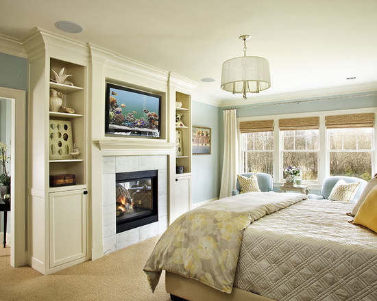 21 impressive master bedroom design ideas with fireplaces for Master bedroom fireplace