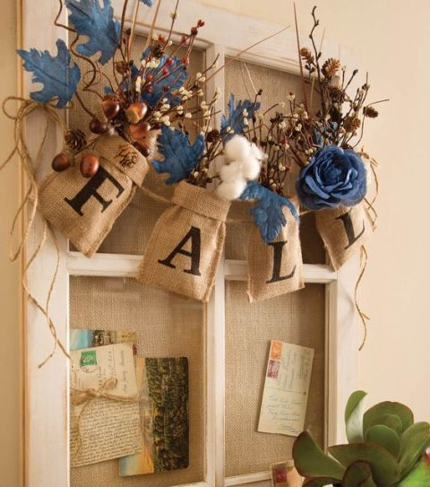 18 creative diy burlap fall decorations style motivation Burlap bag decorating ideas