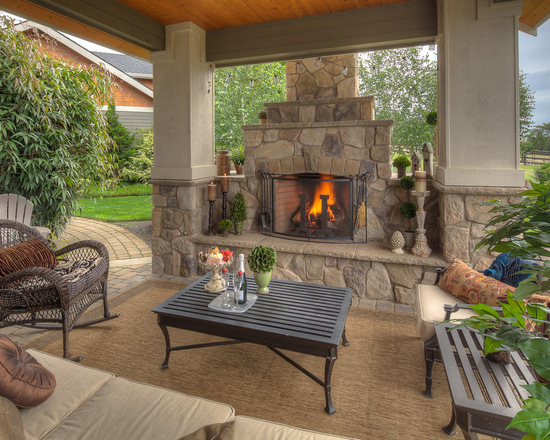 18 Patio Fireplace Design Ideas for Your Outdoor Space Style