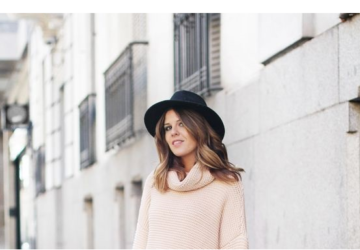 18 Chic Fall Outfit Ideas with A Black Hat - hat outfit ideas, Fall Outfit Ideas with A Black Hat, fall outfit ideas, Black Hat