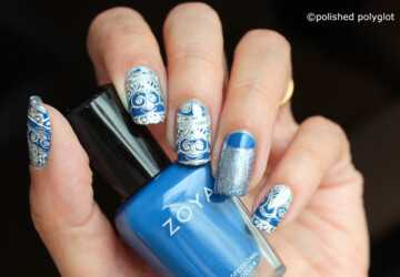 Mix of Blue and Silver for Stunning Nail Art - silver nail art, nail art ideas, blue nail art ideas, Blue and Silver nail art, Blue and Silver