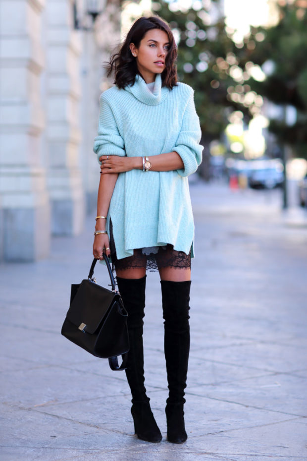 Cozy Sweater for Chilly Fall Weather  21 Cute Outfit Ideas
